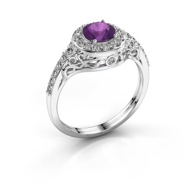 Picture of Ring Yurani 585 white gold amethyst 6 mm