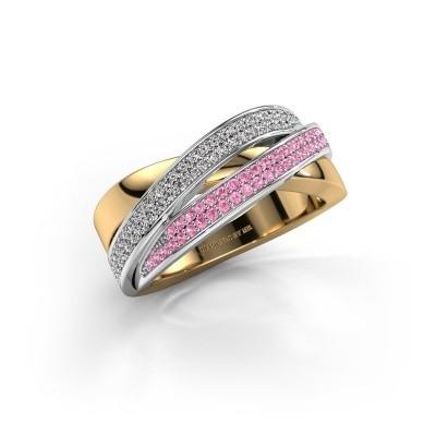 Foto van Ring Myra 585 goud roze saffier 1 mm