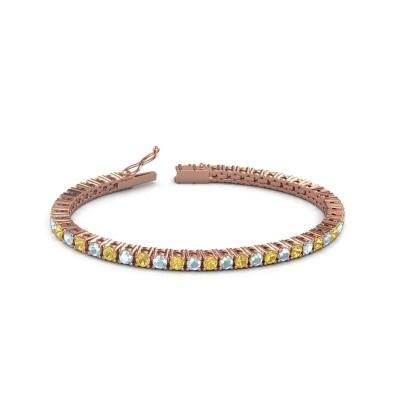 Tennisarmband Jenny 375 rosé goud gele saffier 3.5 mm