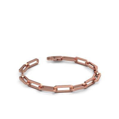 Photo de Bracelet CFE sqr 6.0 585 or rose ±6 mm