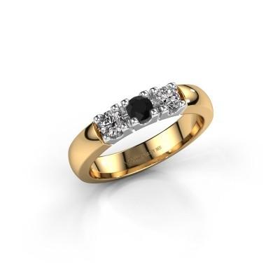 Foto van Verlovingsring Rianne 3 585 goud zwarte diamant 0.48 crt