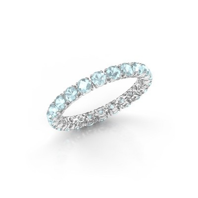 Picture of Ring Vivienne 2.7 585 white gold aquamarine 2.7 mm