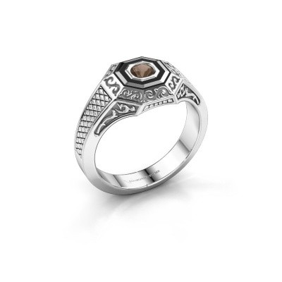 Foto van Heren ring Dion 375 witgoud rookkwarts 4 mm