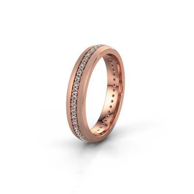 Trouwring WH0103L24BM 375 rosé goud diamant 0.44 crt ±4x2 mm