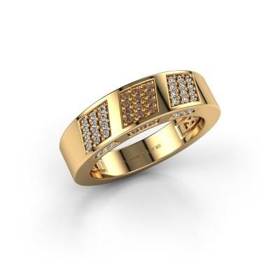 Ring Jessika 375 gold brown diamond 0.30 crt