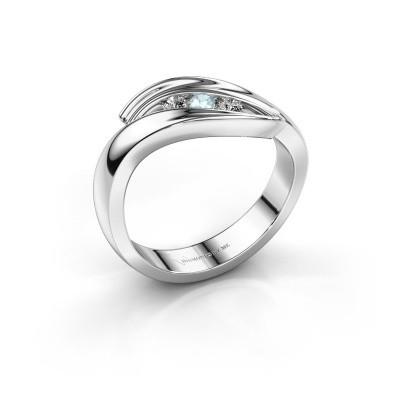 Foto van Ring Erin 925 zilver aquamarijn 2.4 mm