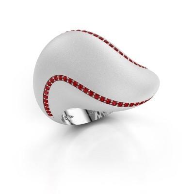 Ring Phyliss 950 platina robijn 1 mm