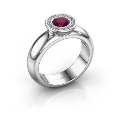 Picture of Stacking ring Anna 925 silver rhodolite 5 mm