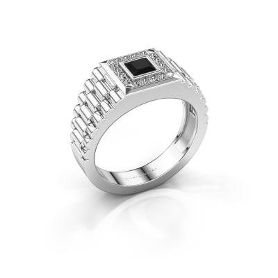 Foto van Heren ring Zilan 950 platina zwarte diamant 0.672 crt