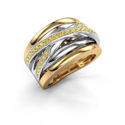 Foto van Ring Clair 3 585 goud gele saffier 1.5 mm
