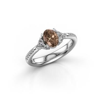 Foto van Verlovingsring Aleida 2 585 witgoud bruine diamant 1.012 crt