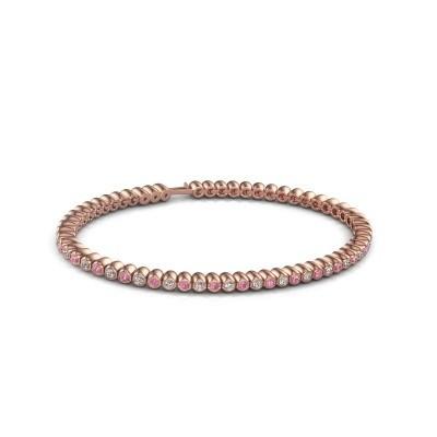 Foto van Tennisarmband Trix 375 rosé goud roze saffier 2 mm