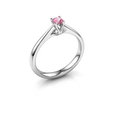Verlobungsring Janna 1 585 Weißgold Pink Saphir 3.4 mm