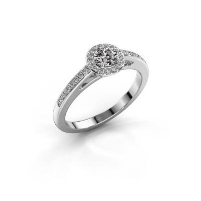 Foto van Verlovingsring Aaf 585 witgoud diamant 0.46 crt
