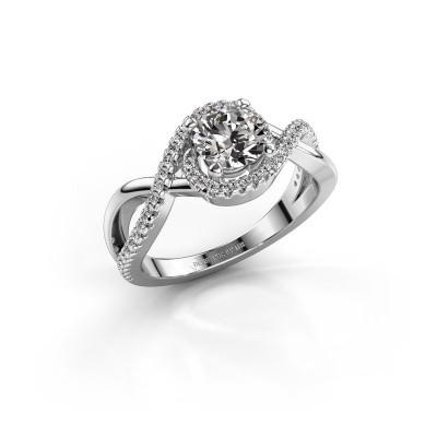 Foto van Verlovingsring Melody 925 zilver diamant 1.00 crt
