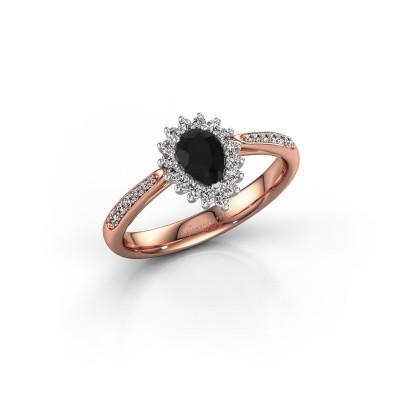 Foto van Verlovingsring Chere 2 585 rosé goud zwarte diamant 0.54 crt