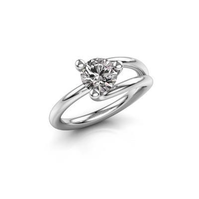 Foto van Verlovingsring Roosmarijn 585 witgoud diamant 1.00 crt