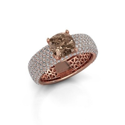 Engagement ring Darcy 375 rose gold brown diamond 3.37 crt