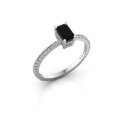 Foto van Verlovingsring Denita 2 585 witgoud zwarte diamant 0.84 crt