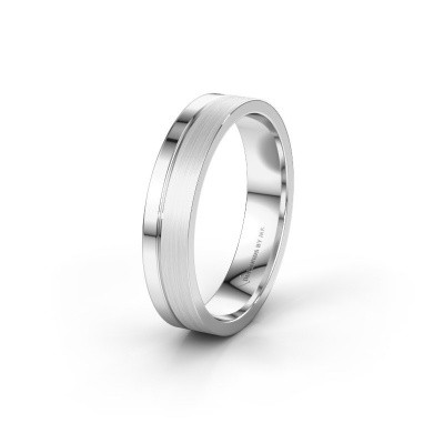 Wedding ring WH0157M14XPM 375 white gold ±0.18x0.06 in
