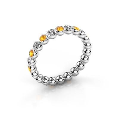 Foto van Aanschuifring Maurise 925 zilver diamant 0.330 crt
