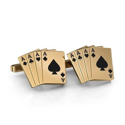 Picture of Cufflinks Black jack 585 gold