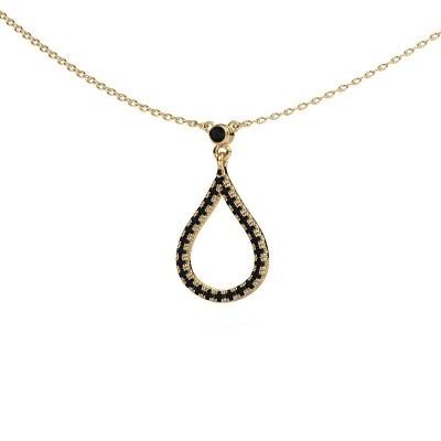 Ketting Alona 375 goud zwarte diamant 0.348 crt