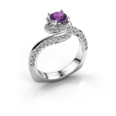Engagement ring Sienna 950 platinum amethyst 5 mm