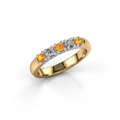 Picture of Engagement ring Rianne 5 585 gold citrin 2.7 mm