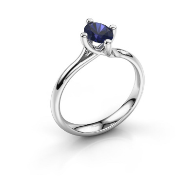 Engagement ring Dewi Oval 585 white gold sapphire 7x5 mm