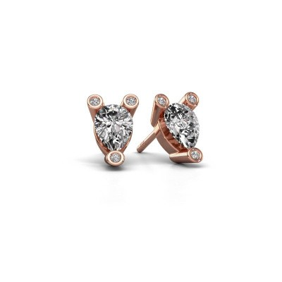 Ohrsteckers Cornelia Pear 375 Roségold Lab-grown Diamant 0.65 crt
