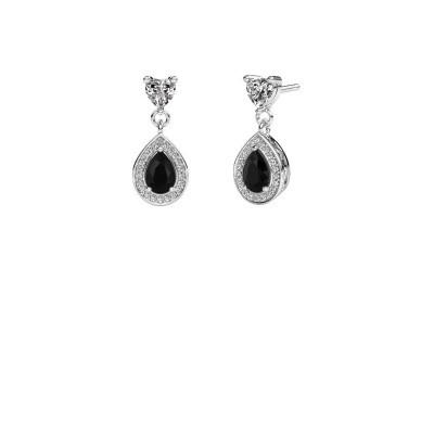 Drop earrings Susannah 950 platinum black diamond 1.69 crt