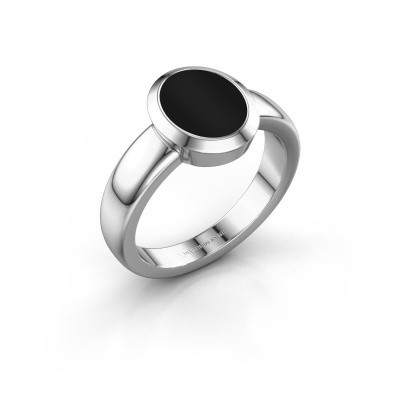 Signet ring Freeda 1 925 silver onyx 10x8 mm