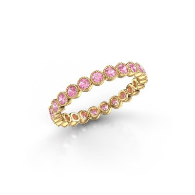 Picture of Ring Mariam 0.03 375 gold pink sapphire 2 mm