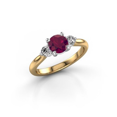 Picture of Engagement ring Lieselot RND 585 gold rhodolite 6.5 mm