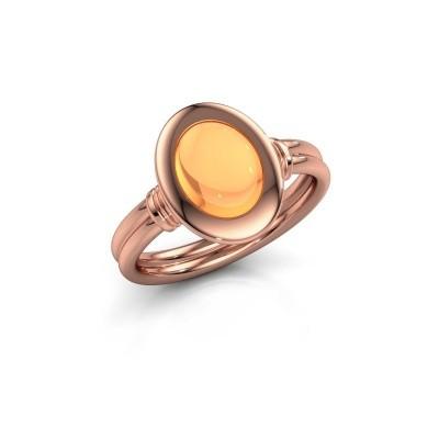 Foto van Ring Brittni 585 rosé goud citrien 9x7 mm