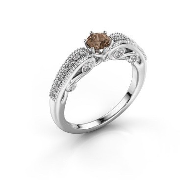 Foto van Verlovingsring Christeen 585 witgoud bruine diamant 0.53 crt