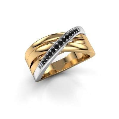 Ring Renna 2 585 goud zwarte diamant 0.147 crt