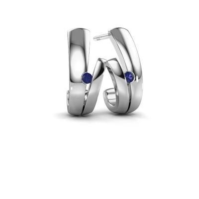 Earrings Shela 925 silver sapphire 2 mm