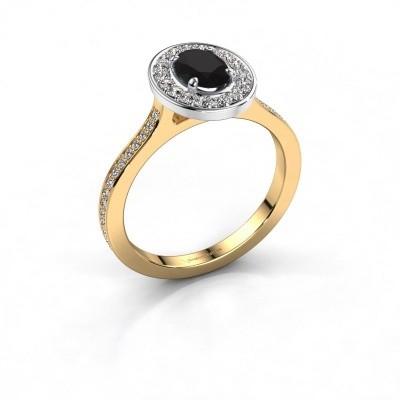 Ring Madelon 2 585 goud zwarte diamant 1.320 crt