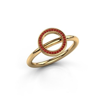 Ring Shape round large 585 goud robijn 0.8 mm