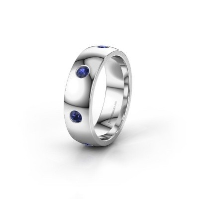 Wedding ring WH0105L26BP 925 silver sapphire ±6x2 mm