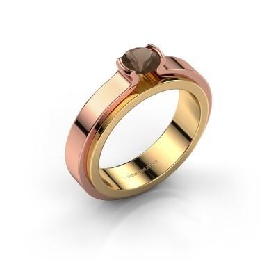 Engagement ring Jacinda 585 gold smokey quartz 4.7 mm