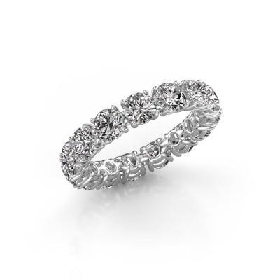 Photo de Bague Vivienne 4.2 585 or blanc diamant synthétique 4.50 crt