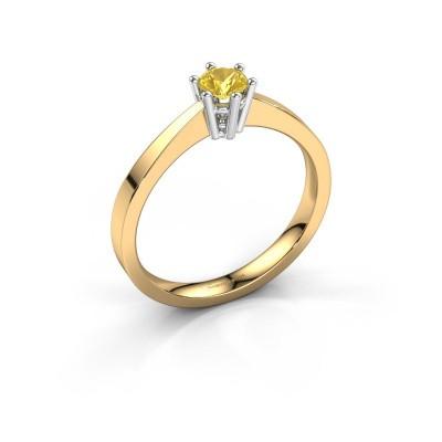 Foto van Verlovingsring Noortje 585 goud gele saffier 4 mm