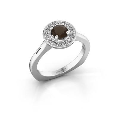 Foto van Ring Kanisha 1 925 zilver rookkwarts 5 mm