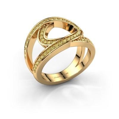 Ring Louise 375 goud gele saffier 1.2 mm