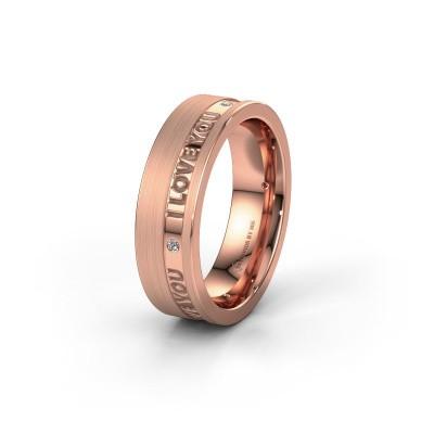 Trouwring WH2076L16CM 375 rosé goud ±6x2.2 mm