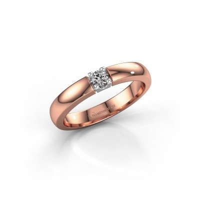 Engagement ring Rianne 1 585 rose gold zirconia 3 mm