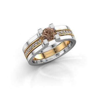 Foto van Verlovingsring Myrthe 585 goud bruine diamant 0.668 crt